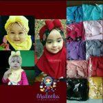 Grosir jilbab bayi syiria flower kerudung anak hijab baby Khimar bergo Dee no.8I