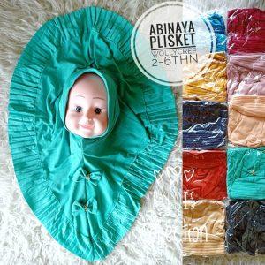 Grosir Jilbab Anak Abinaya Plisket kerudung bayi