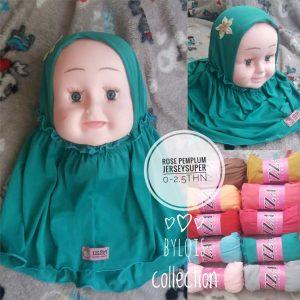 Grosir Jilbab Anak 'Rose Pemplum' kerudung bayi