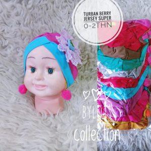 Grosir jilbab anak turban berry