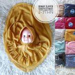 Grosir jilbab anak Binar double layer