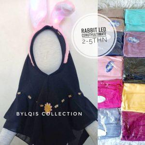 Rabbit hijab Telinga LED