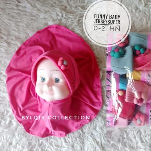 Grosir jilbab anak funny baby