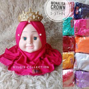 Grosir jilbab anak monalisa crown