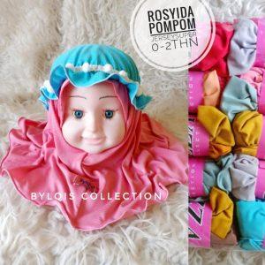 Grosir jilbab anak rosyida pompom