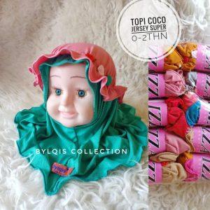 Grosir jilbab anak Topi coco