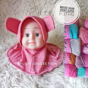 Grosir jilbab anak cute mouse hijab