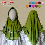 Grosir jilbab anak Luna pompom