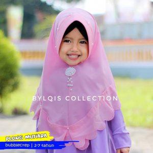 Grosir jilbab anak Plong Mutiara