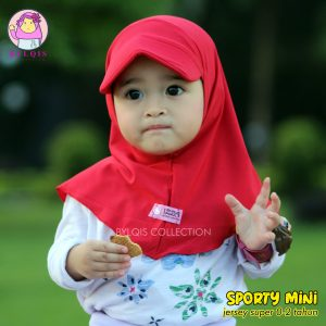 Grosir jilbab anak sporty mini
