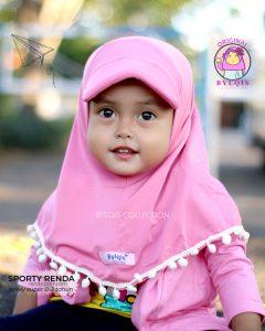 Grosir jilbab anak sporty renda
