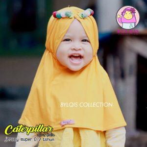Grosir jilbab anak caterpillar (ulat bulu)