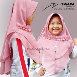 Grosir jilbab anak iswara 2layer