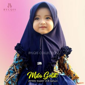 Grosir jilbab anak Mila Gotik