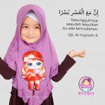 Grosir jilbab anak Nafika LOL LED Musik