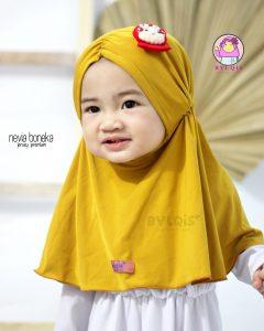 Grosir jilbab anak nevia boneka